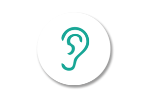 Ears Icon White