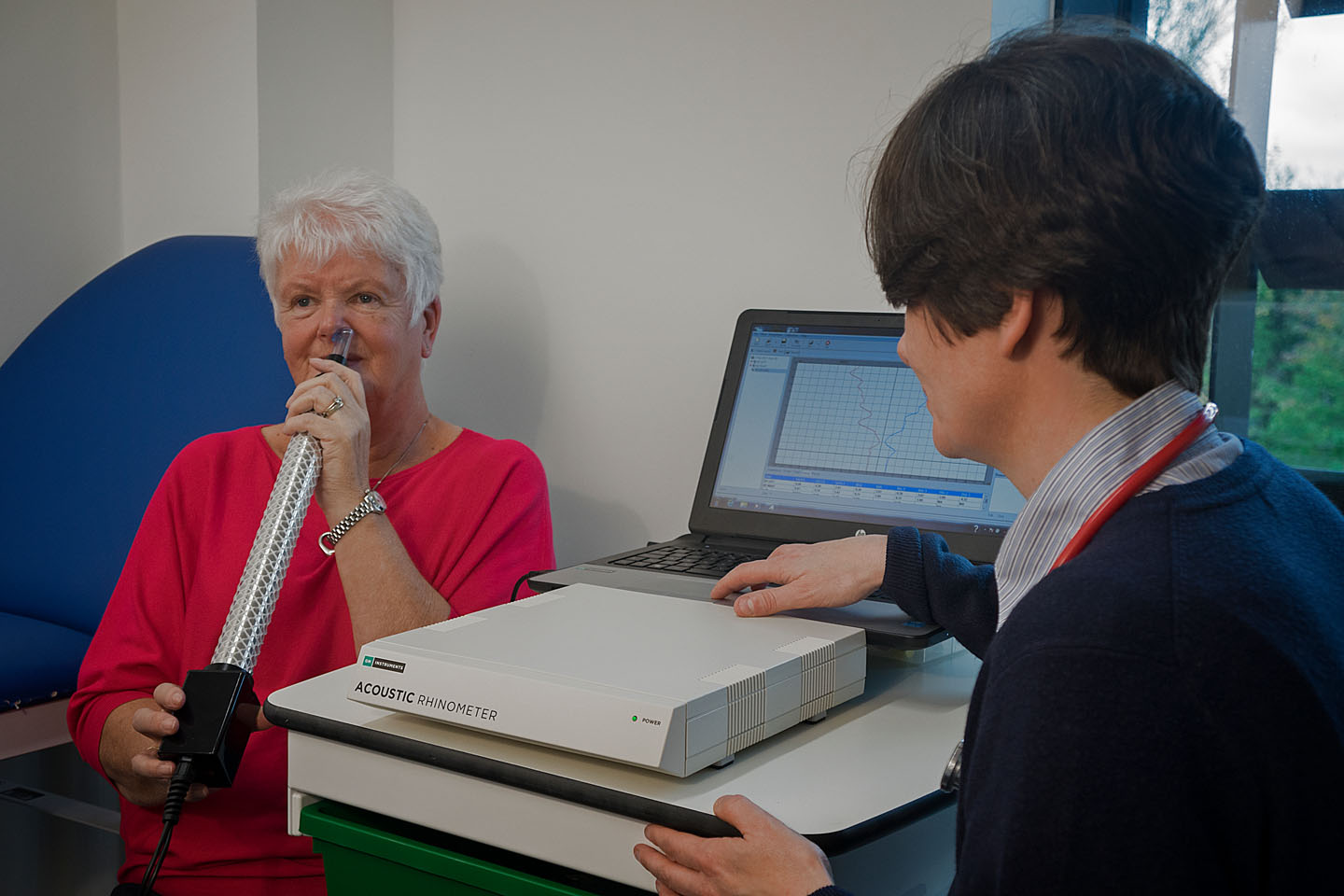 A1 Acoustic Rhinometer in use